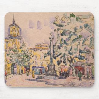 Square of the Hotel de Ville in Aix-en-Provence Mouse Pad