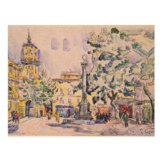 Square of the Hotel de Ville in Aix-en-Provence Postcard