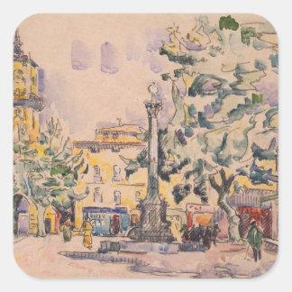 Square of the Hotel de Ville in Aix-en-Provence Square Sticker
