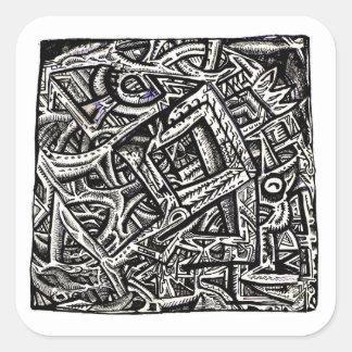 Square One, by Brian Benson, Square Sticker
