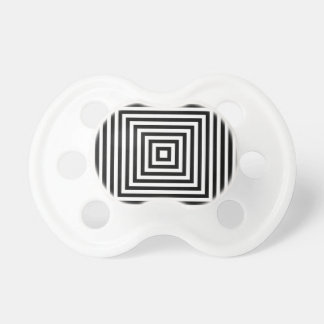 Square Optical High Contrast Black/White Pacifier