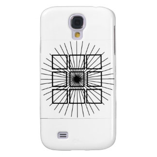 Square Optical Illusion Galaxy S4 Cover