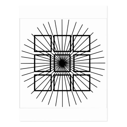 Square Optical Illusion Postcards