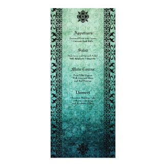 Square Ornate Green Damask Gothic Wedding Invitati Custom Invites