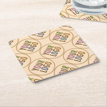Square Paper Coasters Custom Logo Promotional Bulk