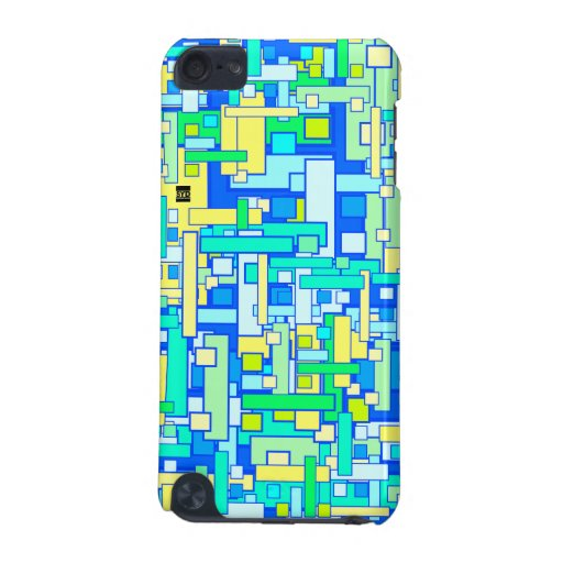 Square Pattern Blue Speck iPod Touch iPod Touch 5G Covers