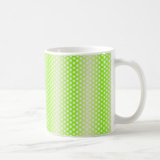 square pattern green coffee mug