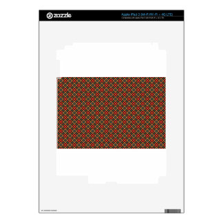 Square pattern iPad 3 skin