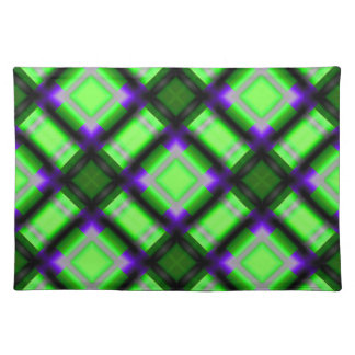 square pattern serie 1 green place mats