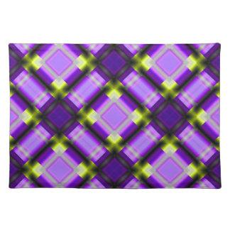 square pattern serie 1 purple placemat