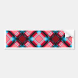 square pattern serie 1 red bumper sticker