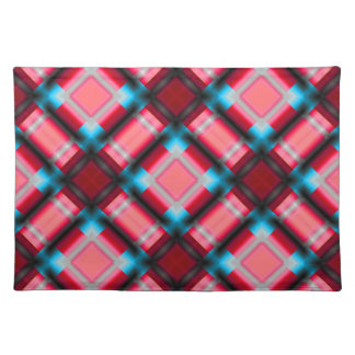 square pattern serie 1 red placemats