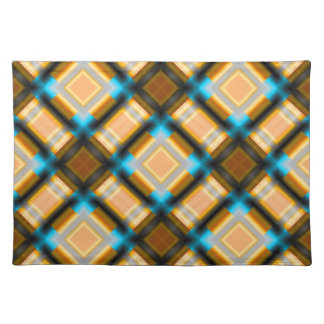 square pattern serie 1 yellow place mats