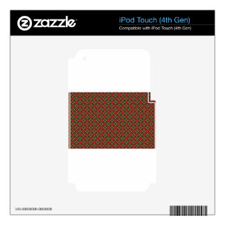 Square pattern skin for iPod touch 4G