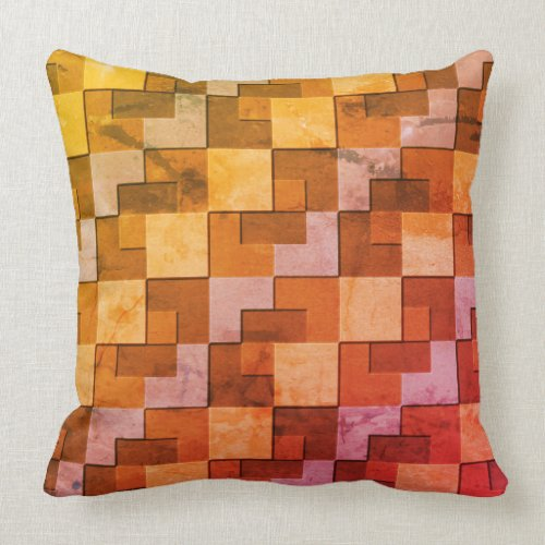 Square Pattern Throw Pillow