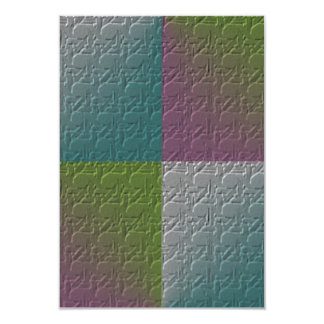 square pattern with triangle color embossed design card