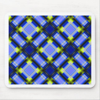 square patternserie 1 blue mouse pads