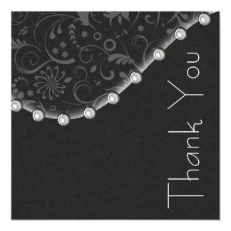 Square Pearl Thank you Card