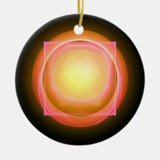 Square Peg in a Round Hole Ceramic Ornament