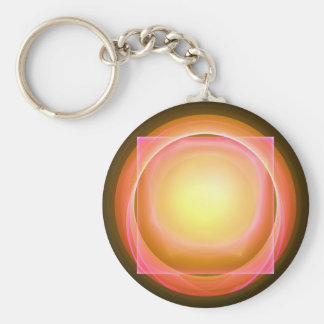 Square Peg in a Round Hole Keychain