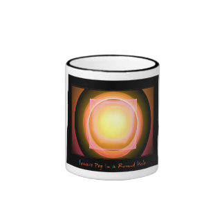 Square Peg in a Round Hole Ringer Coffee Mug
