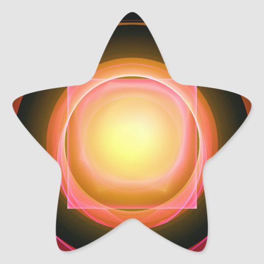 Square Peg in a Round Hole Star Sticker