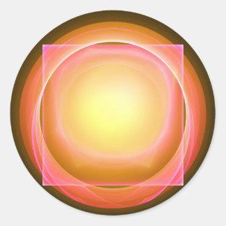 Square Peg in a Round Hole Classic Round Sticker