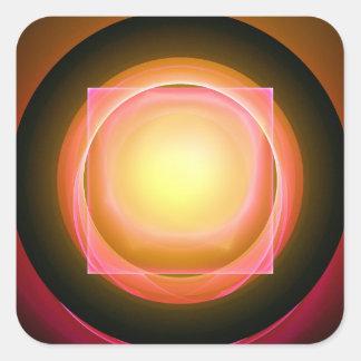 Square Peg in a Round Hole Square Sticker