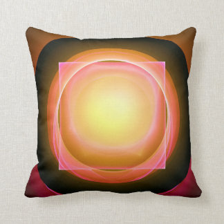 Square Peg in a Round Hole Throw Pillow