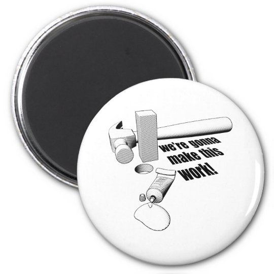 Square peg round hole magnet