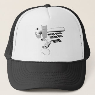 Square peg round hole trucker hat