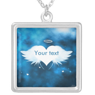 Square Pendant Necklace - Angel of the Heart