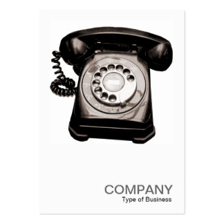 Square Photo 0123 - Old Telephone II Large Business Cards (Pack Of 100)