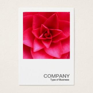 Square Photo 0145 - Red Camelia Business Card