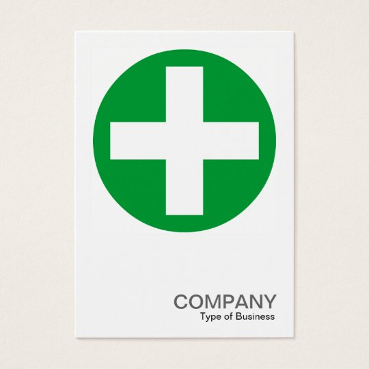 Square Photo 0155 - Big Plus Sign - Green Business Card