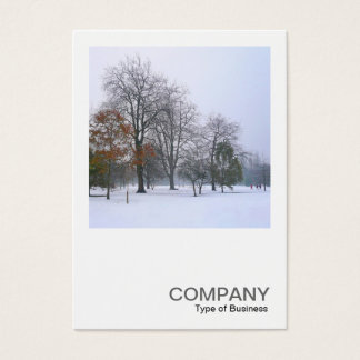Square Photo 0177 - Snow in the Park Business Card
