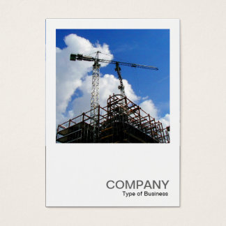 Square Photo 0179 - Tower Cranes Business Card