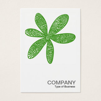 Square Photo 0215 - Pretty Flower - Avocado Green Business Card