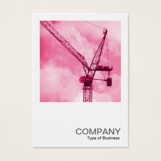 Square Photo 0246 - Pink Crane Business Card