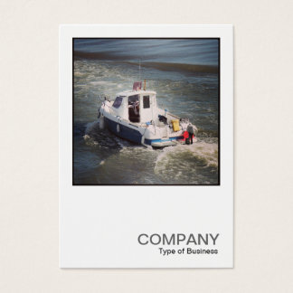 Square Photo 0445 - Motor Boat Business Card