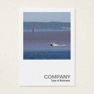 Square Photo 0446 - Motor Boat Severn Estuary Business Card