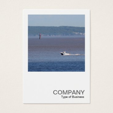 Beach Themed Square Photo 0446 - Motor Boat Severn Estuary Business Card