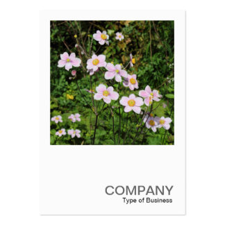Square Photo 0490 - Pink Anemones Large Business Card