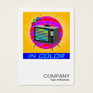 Square Photo 052 - Retro Color TV Business Card