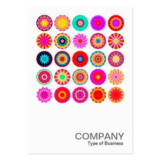 Square Photo 091 - 25 Colorful Mandalas Large Business Card