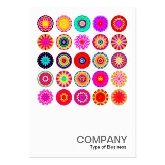 Square Photo 091 - 25 Colorful Mandalas Large Business Cards (Pack Of 100)