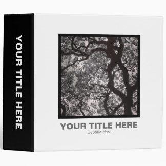 Square Photo (2in) - Magnolia Tree in Blossom 02 3 Ring Binder