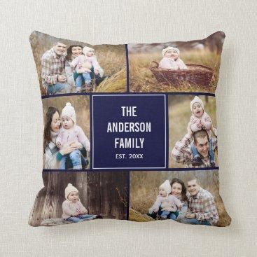 berryberrysweet Square Photo Collage Custom Throw Pillow