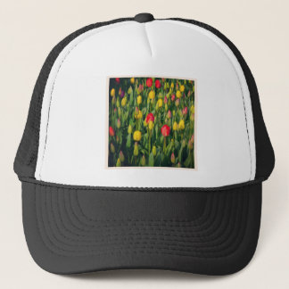 Square Photo - Colorful Tulips Trucker Hat