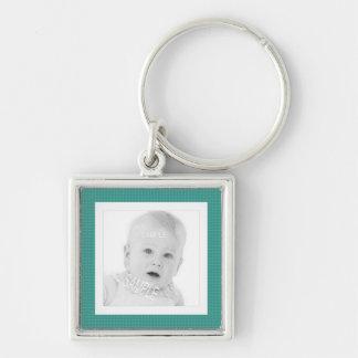 Square Photo Cute Instagram Personalized Silver-Colored Square Keychain